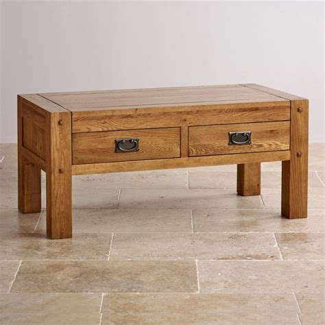 Quercus Coffee Table Rustic Solid Oak Oak Furniture Land Oak Furniture Coffee Tables