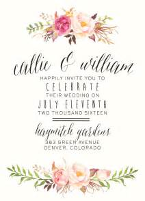 flower invitation template 17 best ideas about floral wedding invitations on