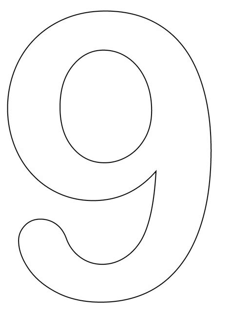 number 9 coloring pages only coloring pages