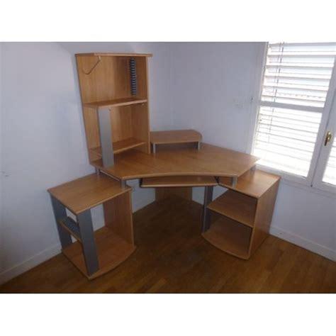 bureau informatique avec rangement bureau d angle ordinateur avec rangement taille ajustable