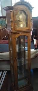 Curio Cabinet With Grandfather Clock Uhuru Furniture Collectibles Sold Reduced Pulaski