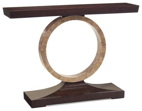 transitional console table macassar regency of pearl circle