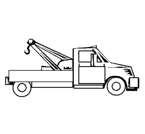 tow color tow truck coloring page coloringcrew