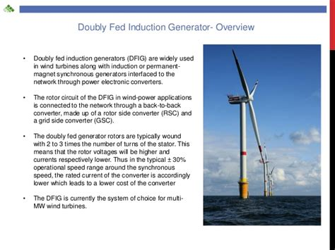 induction generator for wind energy doubly fed induction generator