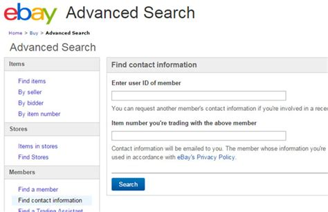 Email Address Information Lookup What Contact Details To Include In Ebay Listings