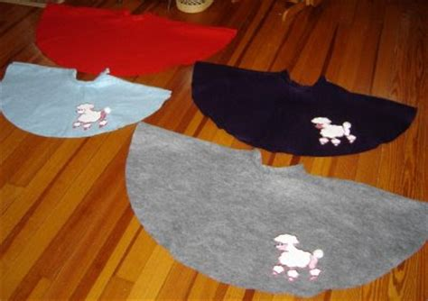 pattern for felt poodle skirt blue june over my head