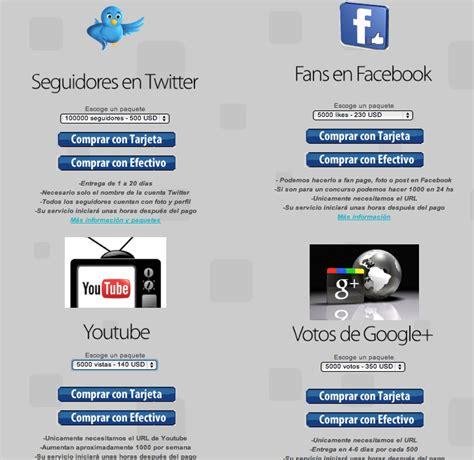 facebook fan page followers twitter followers y facebook fans de saldo