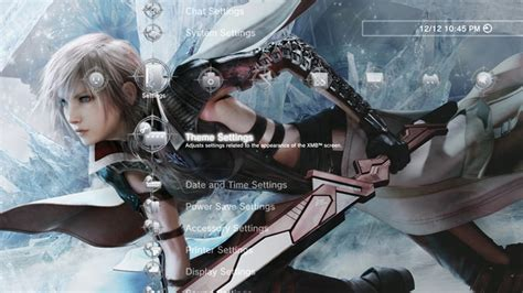 Psp Theme Lightning Final Fantasy | lightning returns final fantasy xiii key art custom theme