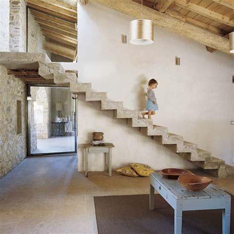 Open Plan Kitchen Hallway by Open Plan Hallway Provencal Barn House Tour
