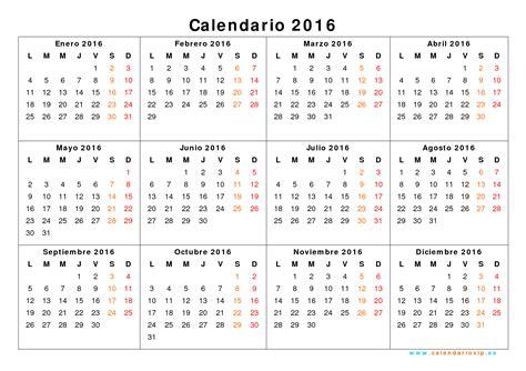 I Calendario 2016 Pdf Calendario 2016 Para Imprimir Gratis