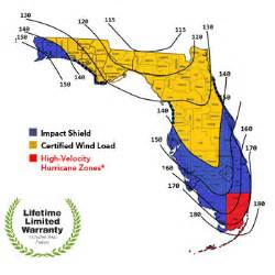 florida wind load map products not been tested for use in high velocity