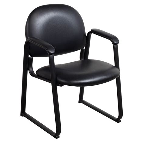 black leather side chair global used leather side chair black national office