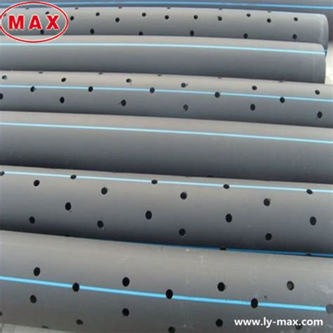 Pipa Hdpe Perforated Plastic Large Diameter Pe100 Hdpe Perforated Drainage Pipe