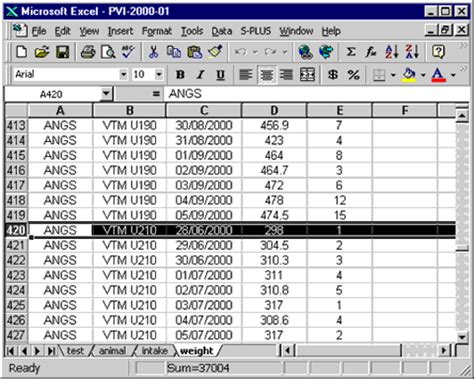 Cow Calf Operation Spreadsheet by Testing Beef Cattle For Net Feed Efficiency Standards Manual