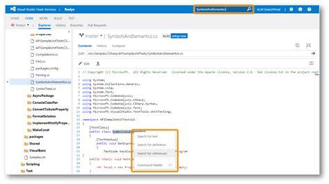 Code Search Microsoft Maakt Code Search Beschikbaar In Visual Studio Team Services En Team