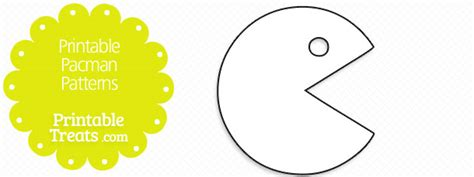 pacman template printable pacman patterns printable treats