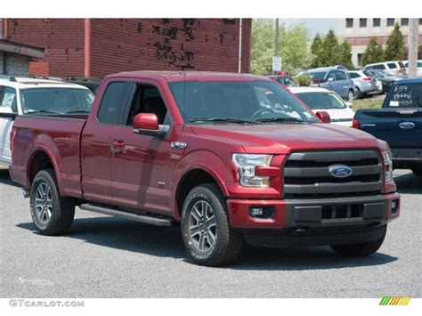 ruby ford f150 2015 ruby metallic ford f150 lariat supercab 4x4