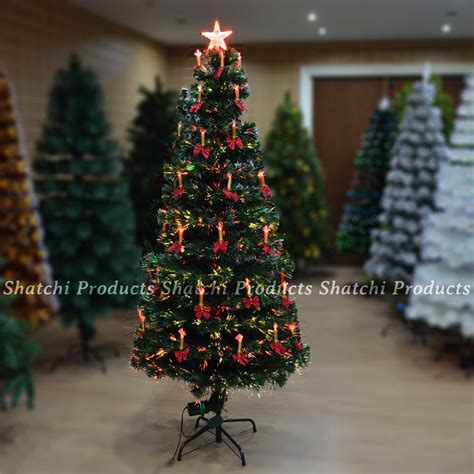 2ft 3ft 4ft 5ft 6ft fibre optic pre lit christmas tree