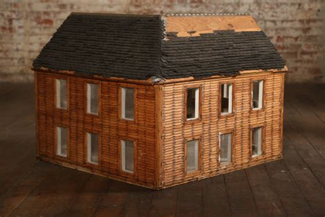 antique dolls house for sale vintage wooden doll house wood architectural model for sale at 1stdibs
