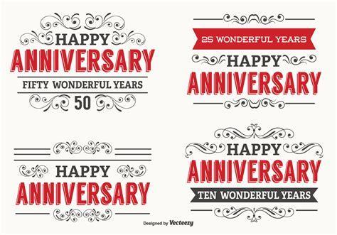 Happy Anniversary Label Set   Download Free Vector Art