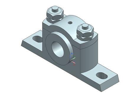 Pedestal Bearing pedestal bearing nx 3d cad model grabcad