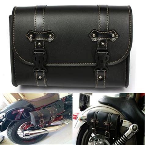 Sale Tas Sepeda Sadel Saddle Bag Bike Tool Bag motorcycle saddle leather bag storage tool pouch for harley davidson sale banggood