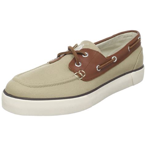 polo ralph mens rylander boat shoe in beige for