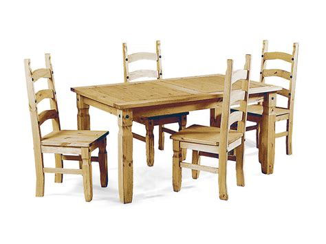 Pine Dining Tables And Chairs Soild Pine Wooden Dining Table And 4 Chairs Homegenies