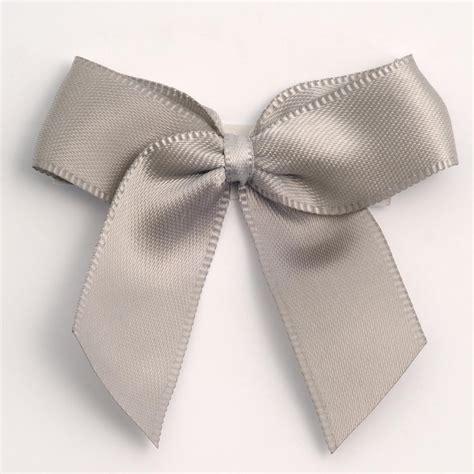 silver self adhesive satin ribbon satin bows favour this