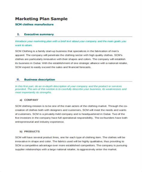 retail business plan template free 30 marketing plan templates in pdf free premium templates