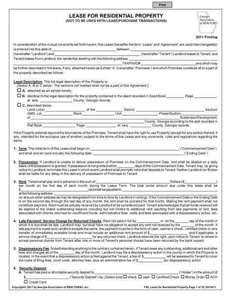 free printable business lease agreement free printable commercial rental agreement template