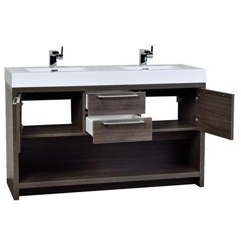 57 Inch Sink Vanity by Buy Lodi 57 Inch Sink Vanity In Grey