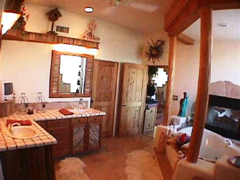 bath bathroom sw vigas latillas pine poles az arizona hand