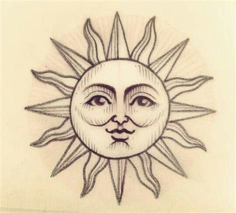 sun face tattoo designs 237 best sun moon images on