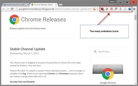 how to hide extension icons in chrome s toolbar