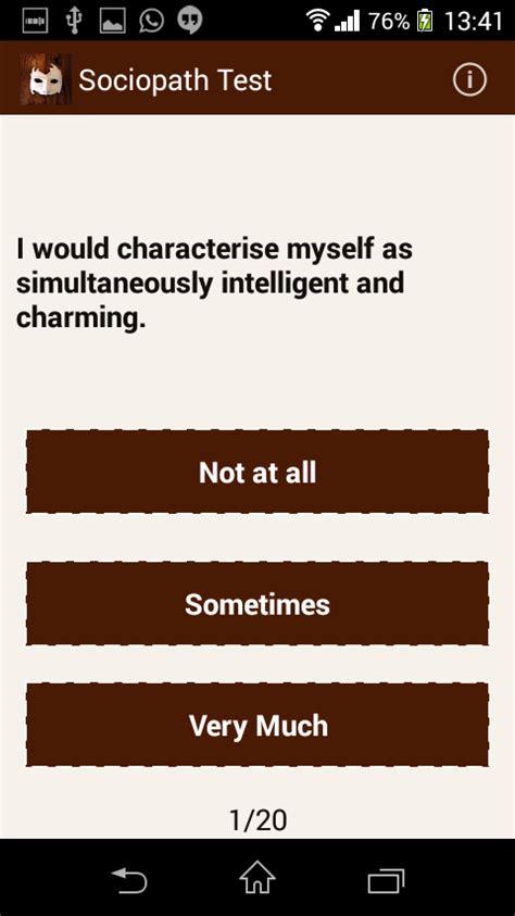 sociopath test sociopath test programu za android kwenye play