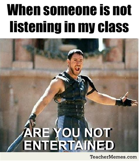 Not Listening Meme - a teacher s face when someone is not listening to his