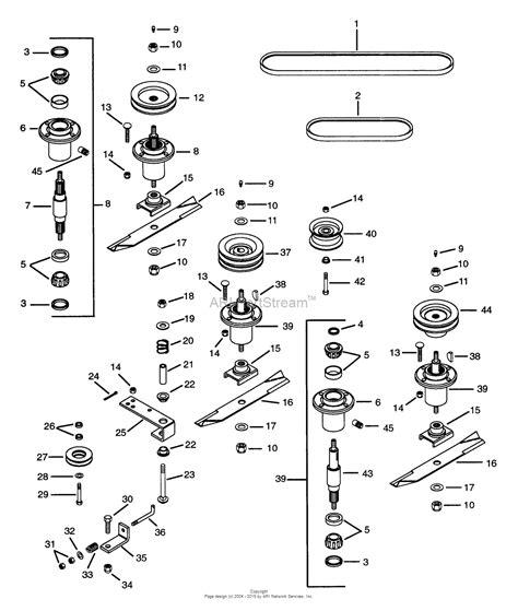 gravely mower parts diagram gravely 888048 002000 002697 50 quot deck pro 150 parts