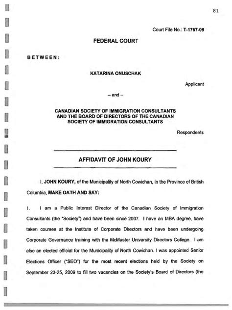 Federal Court Calendar Federal Court Affidavit 6 Free Templates In Pdf Word