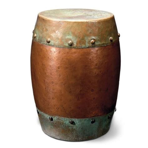 metal drum accent table metal drum table home style pinterest