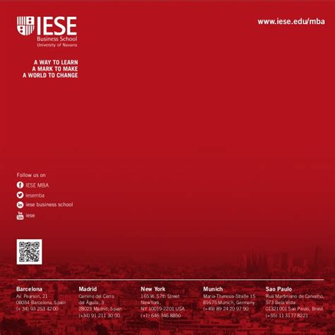 Mba Iese Ranking by Iese Mba Brochure 2015