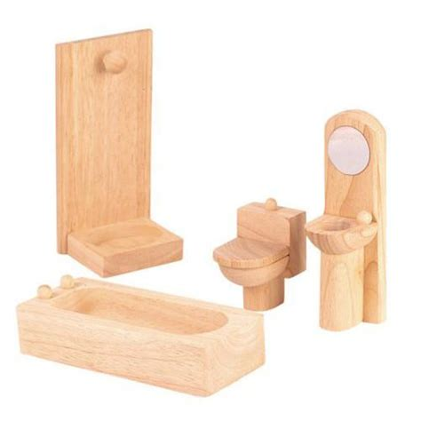 wooden doll houses with furniture wooden dollhouse furniture plan toys classic bathroom