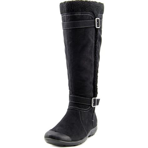 boots wide width naturalizer wide calf faux suede winter