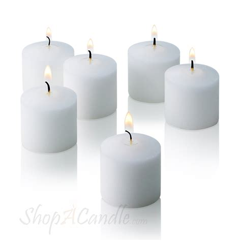 Unscented Votive Candles White Votive Candles Unscented Set Of 288 Buy On Shopacandle