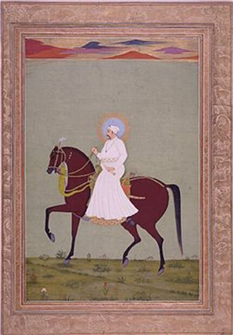 biography of mughal emperor muhammad shah muḥammad sh 225 h on horseback jpg