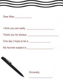 worksheet templates for teachers appreciation gift a letter to your printable