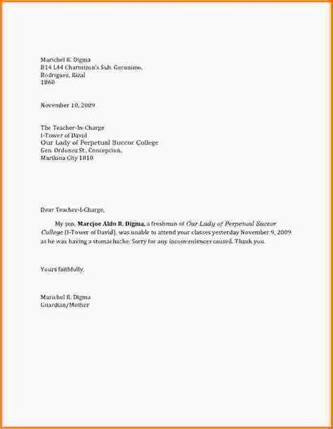 Sle Letter Of Absence From School For Uk Excuse Letter For School Alapf7large Jpg Letterhead Template Sle