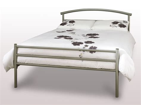 Serene 4ft Brennington Small Double Silver Metal Bed Frame Small Metal Bed Frames