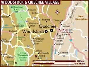 map of woodstock quechee