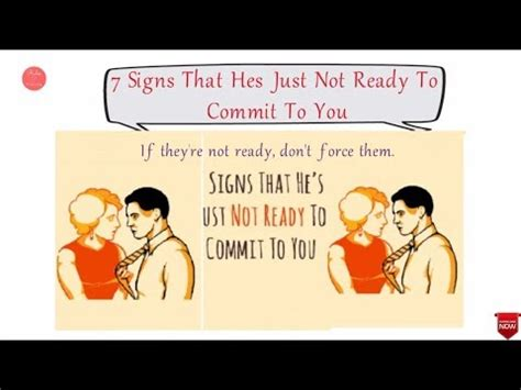 10 Signs That Show Hes Ready To Commit by 7 Signs That He S Just Not Ready To Commit To You